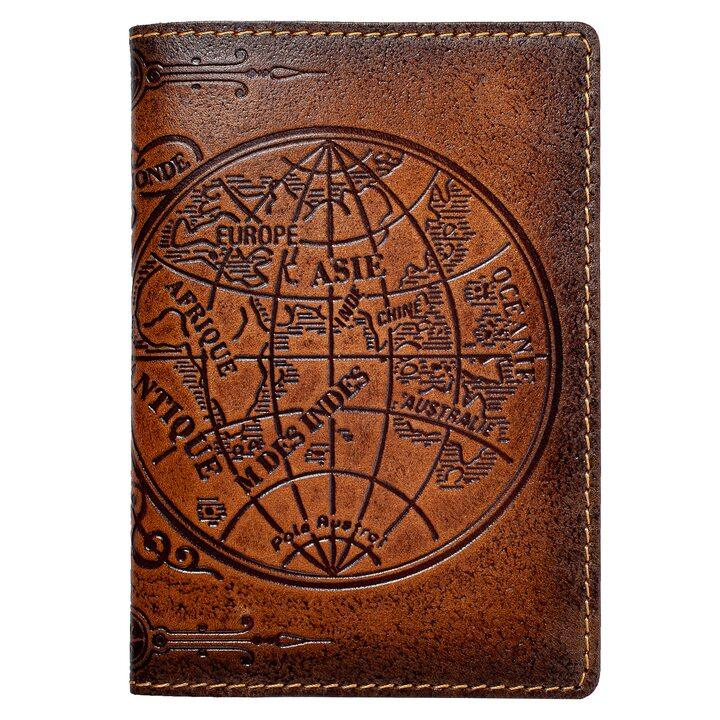 "Обложка на паспорт  ""Карта полушарий"""